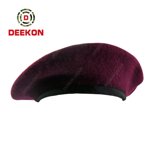 Chinese Factory for Customized Military High Quality 100% wool Army Police Beret Caps