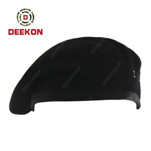 Deekon Supply Saudi Arabia 100% Wool Blank Black Military Beret Cap for Man and Woman
