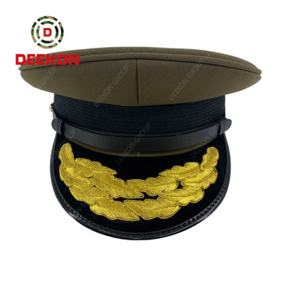 Deekon Supply For Army Military Police Officer Hats Embroidered Peak Caps