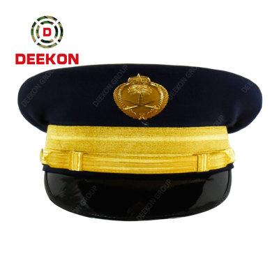 Saudi Arabia Custom Logo Military Army Hat Officer Captain Uniform Peak Cap