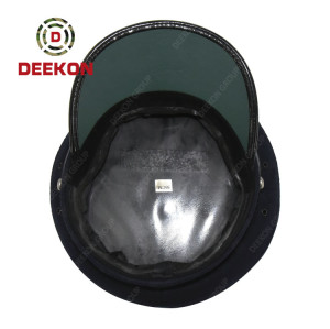 Chinese Factory for Military Police Captain Officer Navy Peak Cap