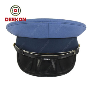 Deekon Supply Polyester Police Military Caps Patrol Peak Embroidery Hats For Officer