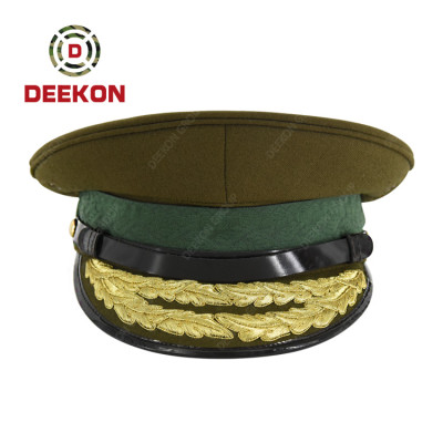 Factory Direct Sales High Quality Custom Army Hat Peak Hat Military Officer Cap