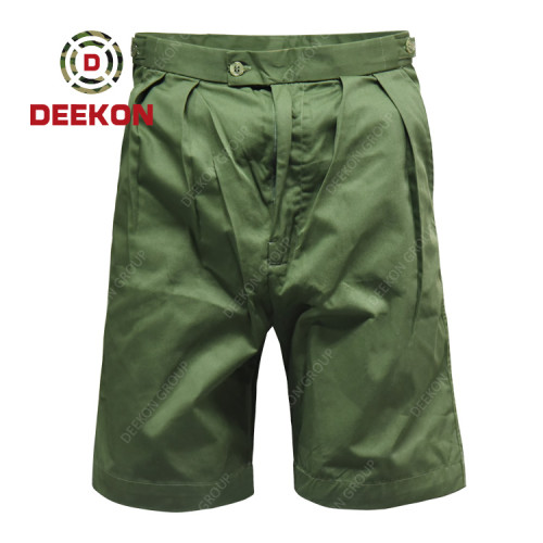 Deekon Military trousers manufacture Army Green short pants for Kenya Army 100% cotton