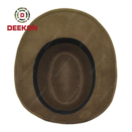 Deekon Factory Customized Wool Felt Double Layer Military Hat
