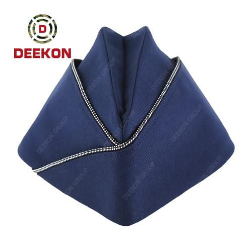 Deekon Supply Dominica Dark Blue Garrison Cap for Military Army Using