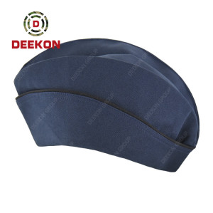 Dominica Police Customized Navy Blue Garrison Cap for Officer Use