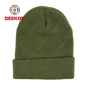 Deekon Factroy for Malawi Military Army Green Color Wool Hat