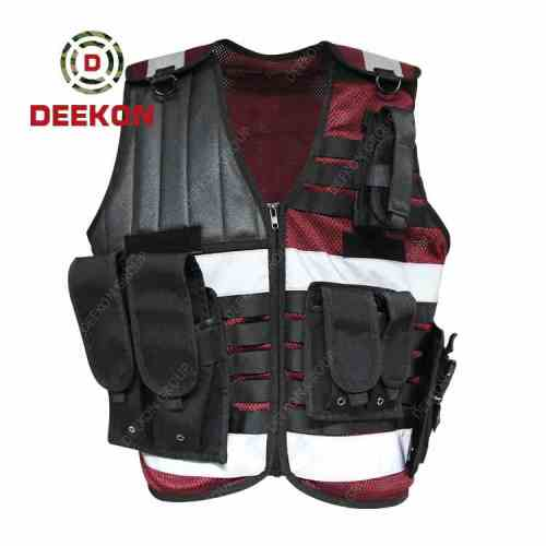 Custom Military Police Vest Company Red Molle Military Style Vest