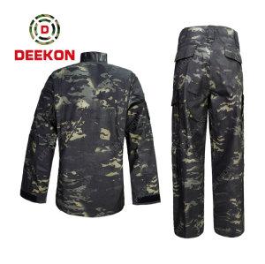 China  military Supply Panama Black Multicam Camo Uniform 100% Cotton Military Uniform