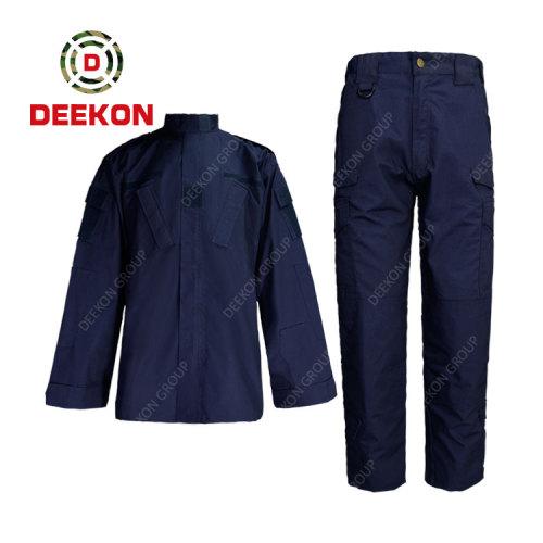 China Military Uniform Manufacture Dark Grey Uniform Ripstop Military Uniform for Army