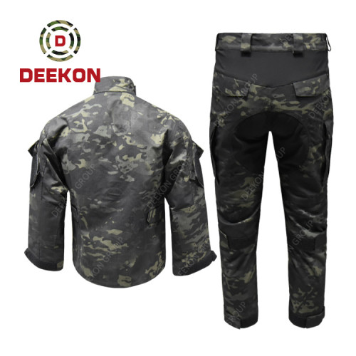 DEEKON Military Clothing Supply Black Multicam Camouflage Ripstop Military Uniform for Thailand Army