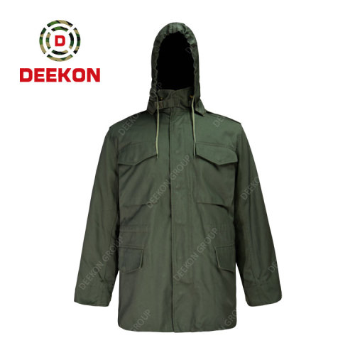 Military Uniform Manufacture Army Green Color M65 Jacket Uniform for Libya Army