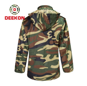 Military Jacket Factory High quality Waterproof Woodland Camo TC 65/35 Rip-stop M65 jacket