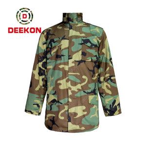 China Supply Woodland Camo T/C 65/35 Plain Tactical Shirt