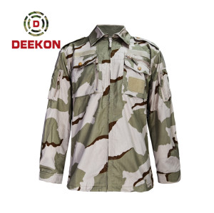 Chinese factory supply Best Hungary 3 colour Desert camouflage Pattern CVC Military Clothes