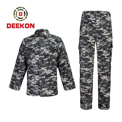 Chinese factory supply High Quality Navy Blue Digital Camo T/C 65/35 Combat Uniform