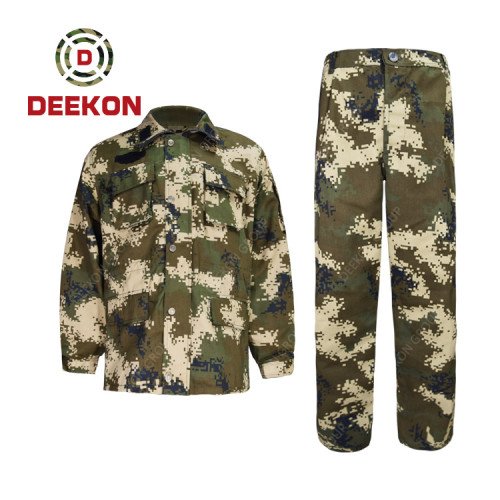 Deekon supply High Quality Woodland Camouflage NC Military Fatigues for Army Tender