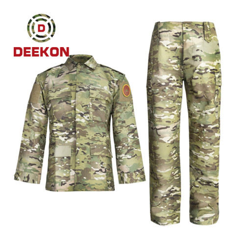 Deekon company Hot Sale Multicam Camo T/C 65/35 Rip-stop Tactical Suit for military