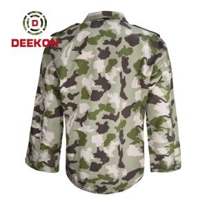 Nigeria Fire Retardent Camouflage 100% Cotton Army Combat uniform factory