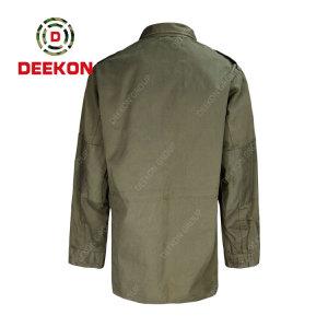 Deekon factory Fashion OEM Custom Mens Two Pockets Curved Hem 100% Cotton Military Shirts