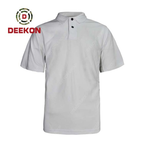 Deekon wholesale Combat Short Sleeve Combed Cotton Customize Military OEM Uniform Shirts