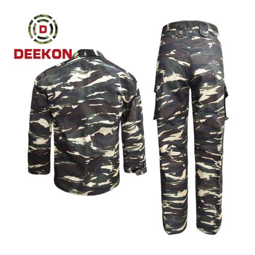 Deekon supply High Quality Cameroon Horizontal Lizard Camo Pattern Rib Combat Uniform--BDU