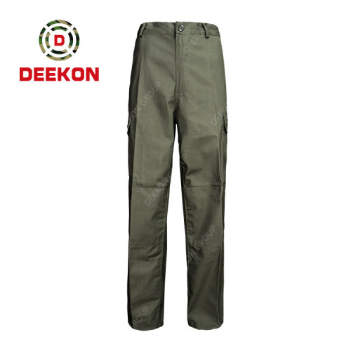 Deekon factory wholesale Tactical Olive Green 6 Pockets Army Military Style Cargo Pants