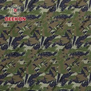 Military Woodland Camouflage TC / CVC / NC Ripstop Fabric for Military Uniform