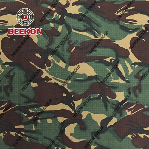 Military Woodland Manufacturer 100% Polyester 100% Nylon Ballistic Vest  Fabric with WR