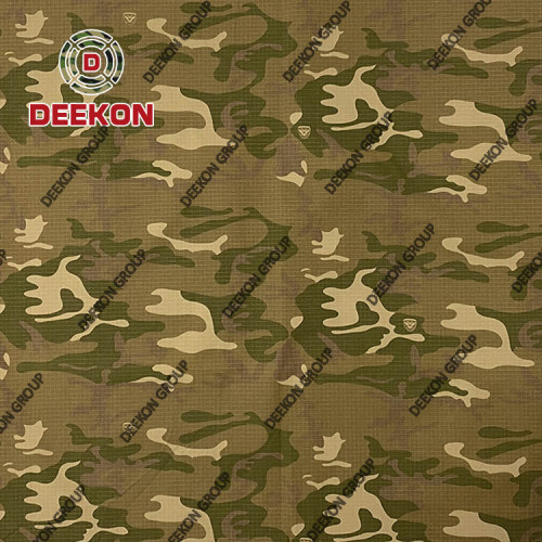 Cyprus Cotton 80% Polyester 20% Camouflage Fabric for Military Apparel Supplier