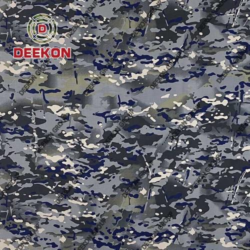 The Republic of Montenegro Multicam Blue Camouflage Ripstop Nylon 50% Cotton 50% Textile for Military Dress Supplier