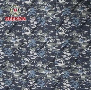 Bangladesh Supplier Navy Digital Camo Cotton 50% / Polyester 50% Ripstop Uniform with Waterproof Company