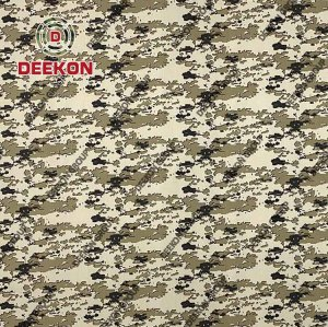 TC 65/35 Ripstop & Twill Camo Fabric with Anti-Bacteria for Militar Fatigues Supplier