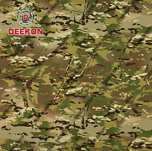 Multicam  Manufacturer NC 50/50 Military Cotton 50% / Polyester 50% Ripstop Uniform Textile for Tender with Waterproof