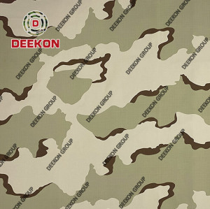 3 Color Desert 100% Polyester Camo Fabric with PVC Coated for Backpack & Tactical Vest Supplier