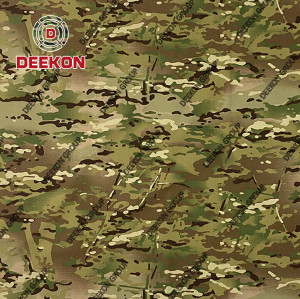 Multicam  Camouflage CVC 50/50 Twill Camoflage Fabric with Waterproof Factory