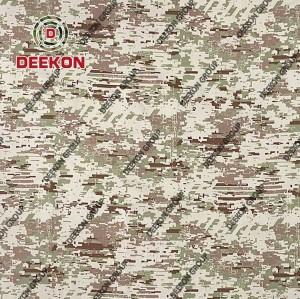 Saudi Araia Desert Digital 100% Cotton Herringbone Camo Fabric for Royal Guard Uniform Supplier