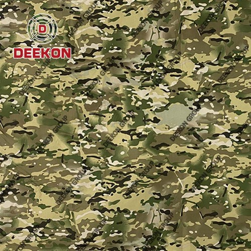 Multicam Camouflage 100% Polyester Fabric with Water Resistant for Georgia Poncho Supplier