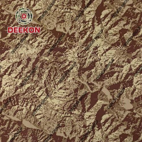 Peru Desert Digital Tiger Strip Manufacturer NC 50/50 Uniform Fabric with Anti-Bacteria
