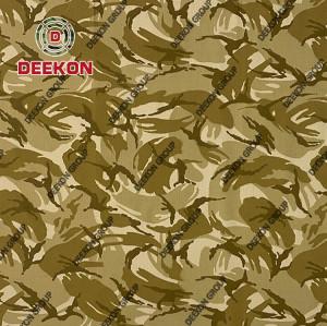 Desert Storm Polyester 65% Cotton 35% Ripstop Camo Fabric for Kenya Soldier Uniform & Cloth Supplier