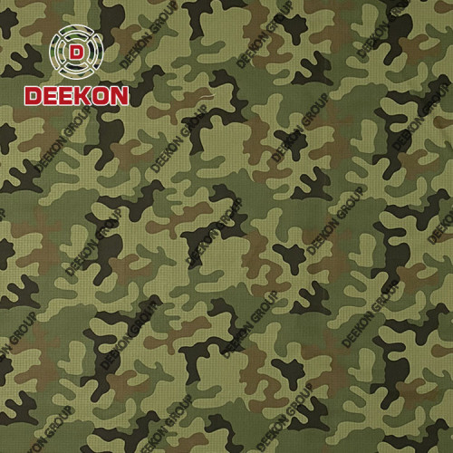 Poland 100% Nylon Camouflage Fabric with Waterproof IRR for Military Backpack Factory