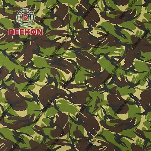 Wholesaler British Woodland Cotton 60% Polyester 40% Ripstop Camouflage Fabric with WR for Military Uniform