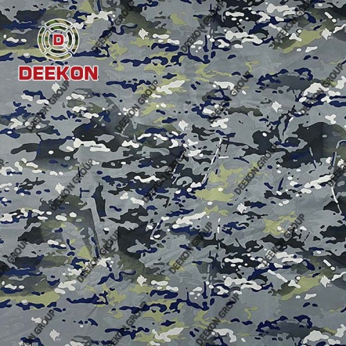 Supplier The Republic of Montenegro Blue Multicam 100% Nylon Laminating Camouflage Fabric for Military M65 Jacket