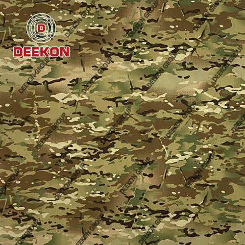 Supplier Jordan Multicam CVC 65/35 Ripstop Camouflage Fabric with Teflon for Special Force Uniform