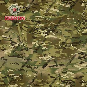 Wholesaler Multicam 100% Nylon 6.6 1000D Ripstop Camouflage Fabric with Teflon FR IRR for Ballistic Vest