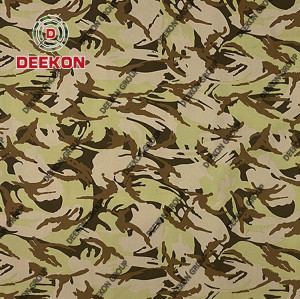 Manufacturer Desert Storm NC 50/50 Ripstop Camo Pattern Fabric with WR for Military Uniform