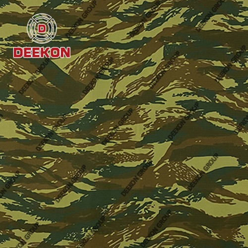 Greece Tiger strip NC50/50 Ripstop &Twill Camo Fabric with Anti-Infrared IRR for Combat Uniform Supplier