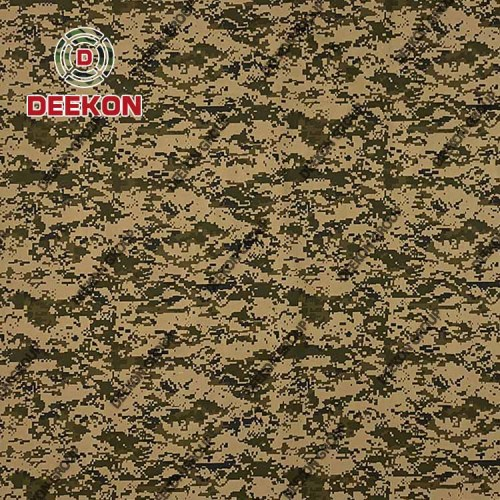 Woodland Digital Polyester 65% Cotton 35% Twill Camo Fabric with Anti-Wrinkle for Military Supplier