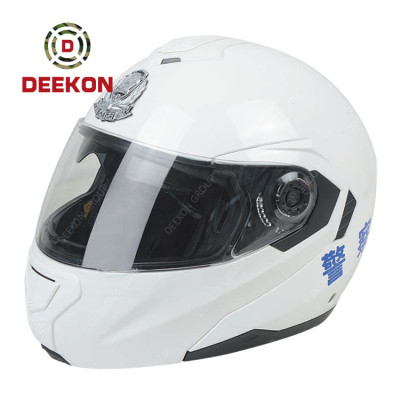 Police Protective Equipment ABS Material Anti Riot Helmet Police Duty Gears White Helmet